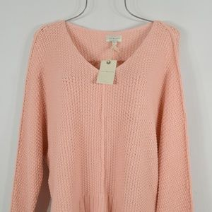Lucky Brand Sweaters - Lucky Brand Pink V-Neck Cozy Knit Sweater Top